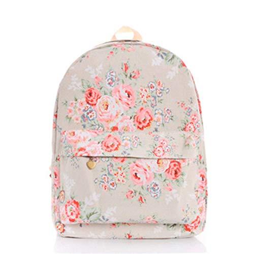 Petit D'École Cuir À Gray Rucksack En Mochila Floral VHVCX Jeunes Broderie Canvas Fleurs Dos Femme Sacs Bagpack Mode Pour Filles w0wtXq7