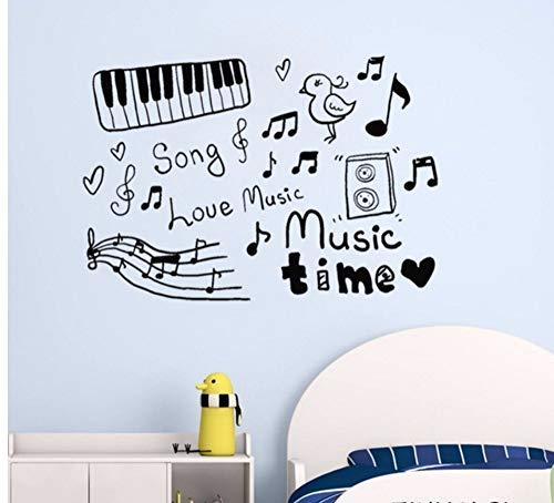 LSFHB 42X61Cm Baby Nursery Wall Stickers Sketch Music