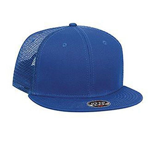 Otto Superior Cotton Twill Flat Visor Pro Style Mesh Back Snapback Caps