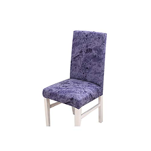 Zutty Spandex Chair Cover Dining Room Printed Stretch Anti Dirty Elastic Seat Cover for Wedding Party Home Kitchen Furniture,Blue,Universal (Furniture Kmart Covers Outdoor)
