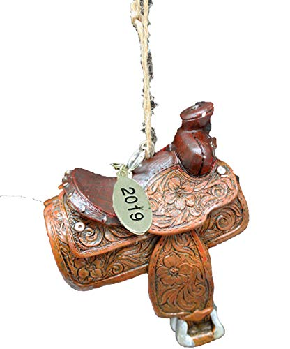 Twisted Anchor Trading Co Western Christmas Ornaments - Saddle Ornament 2019 - Horse Riding Ornament - Comes in Gift Box so its Ready for Giving! (Horse Tree Ornaments)