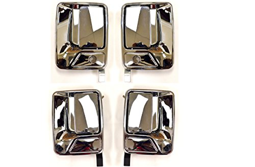 Handle Excursion Door Chrome (PT Auto Warehouse FO-3523M-QP - Outside Exterior Outer Door Handle, Chrome - 1 Front Left, 1 Front Right, 1 Rear Left, 1 Rear Right)