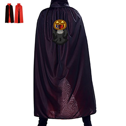 Five Nights at Freddy's Zmxxac Reversible Halloween Clown Pumpkin Party Cloak Vampire Reaper Cosplay Costume Witch Props (Easy Halloween Costume Ideas College Guys)