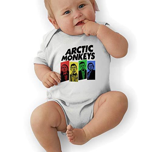 (LuckyTagy Arctic Monkeys Unisex Classic Infant Romper Baby GirlPlaysuit 47 White)