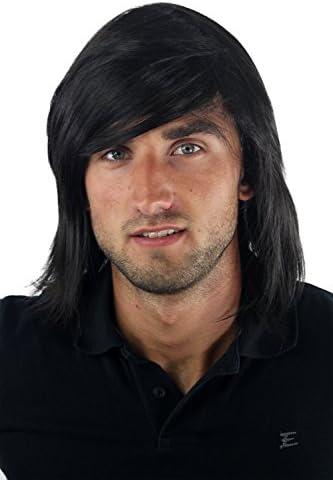 Peluca masculina, largo, juvenil, informal,