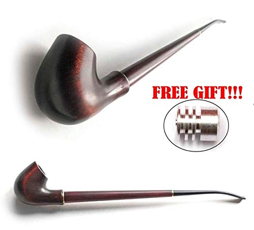 Amazon com: Extra-Long Churchwarden Tobacco Smoking Pipe +