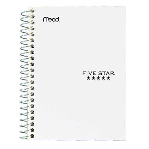 "043100454847 - Five Star Personal Spiral Notebook, 7"" x 4 3/8"", 100 Sheets, College Rule, Assorted colors (45484) carousel main 7"