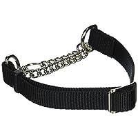 Coastal Pet Products DCP6410BLK Collar de ahogador con control de nylon de 5/8 pulgadas para perros, pequeño, negro