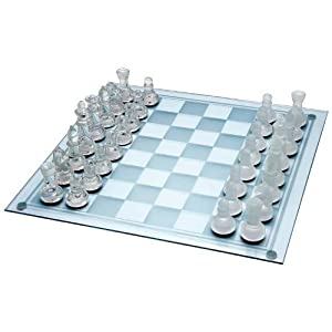 33PC GLASS CHESS SET by Maxam