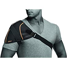 Copper Fit Rapid Relief Shoulder Wrap with Hot/Cold Ice Pack Black