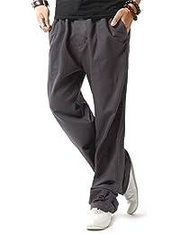 Brand Men Casual Beach Trousers Linen Jean Jacket Summer Pants