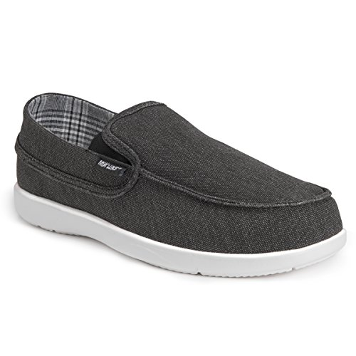 MUK LUKS Men's Aris Shoes Sneaker, Black, 10 M US