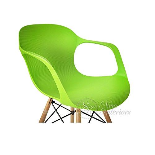 Amazon.com: 2 sillones de comedor moderna de plástico con ...
