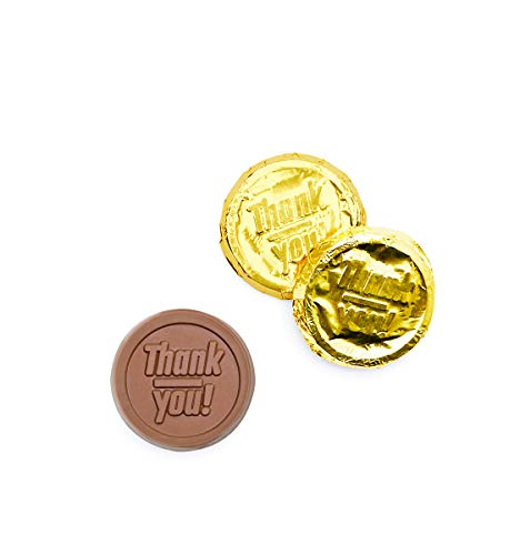 (Belgian Milk Chocolate Gold Foiled Coins Thank You)