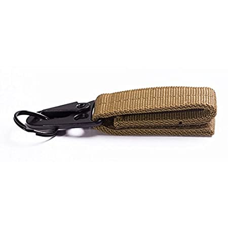 BaconiXfF Militär Nylon Karabiner Haken Gürtel, Schlüssel Haken Gurtband MOLLE Schnalle Outdoor Gear Clip bandhanging Gürtel Karabiner Clip grün