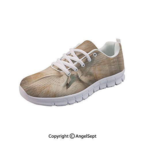 Non Slipping Shoes of Angel Woman in Site Running Sneakers