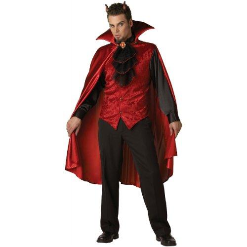 InCharacter Costumes, LLC Men's Dashing Devil Costume, Red/Black, X-Large