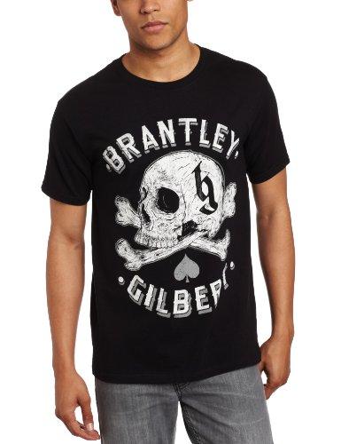 FEA Men's Brantley Gilbert Skull T-Shirt, Black, X-Large