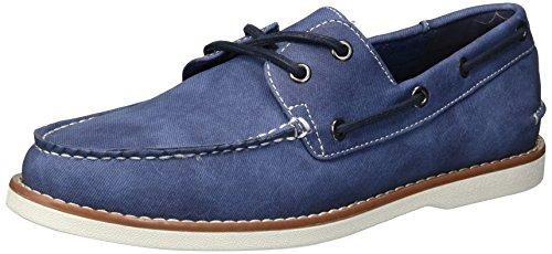 Non Elencato Da Kenneth Cole Mens Santon Boat Shoe Blue