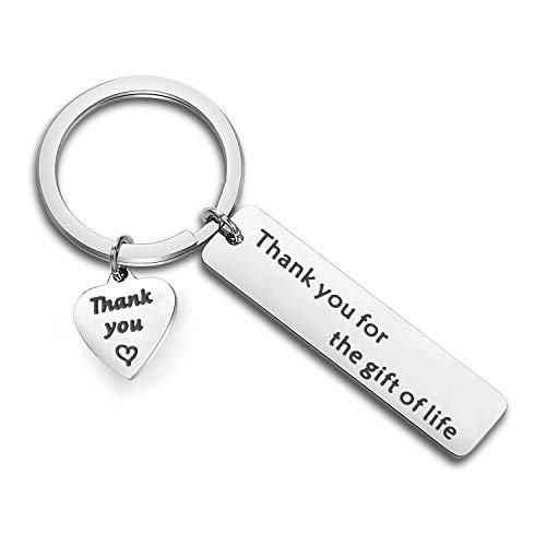 Organ Donors - Zuo Bao Donor Appreciation Gift Donation Jewelry Blood Donors Nurses Day Doctor Gift Thank You for The Gift of Life Keychain Organ Kidney Donor Awareness (Gift of Life Keychain)