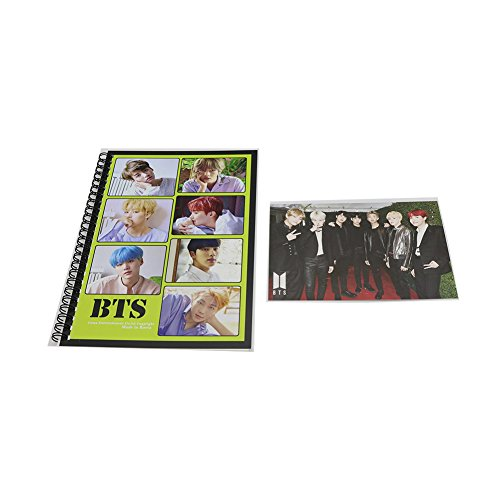 BTS Bangtan Boys Writing Notebook Stationery Memo Paper with Postcard by Bts