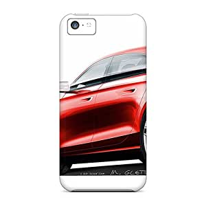 Shock-dirt Proof Red Audi Case Cover For Iphone 5c