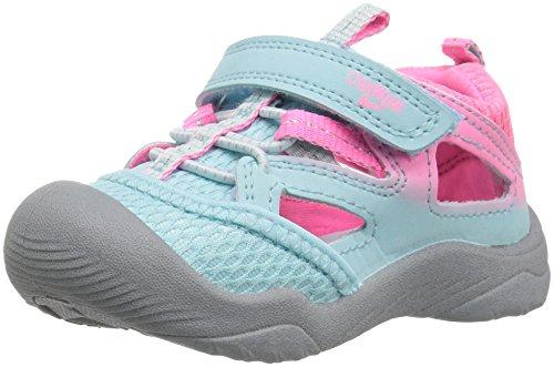 Sandals Girls Aqua (OshKosh B'Gosh Imani Girl's Bumptoe Sandal, Blue/Aqua, 10 M US Toddler)