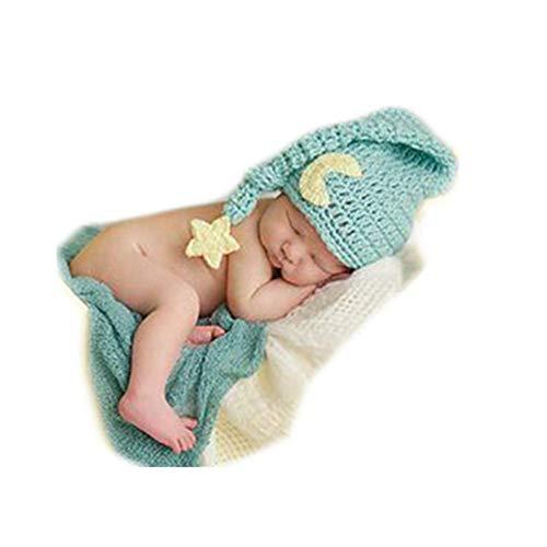 Fashion Newborn Boy Girl Baby Costume Knitted Photography, Green, Size Medium
