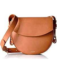 Skagen Lobelle Leather Saddle Bag-Black