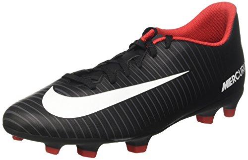 Nike Mens Mercurial Virvel Fg Fotboll Cleat Svart Vit Mörkgrå