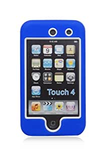 iPod Touch 4G Armor Case - White/Blue (Package include a HandHelditems Sketch Stylus Pen)