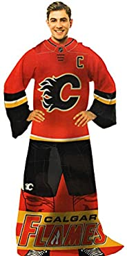 NHL Calgary Flames Blanket - Calgary Flames Comfy Throw - Calgary Flames Blanket with Sleeves