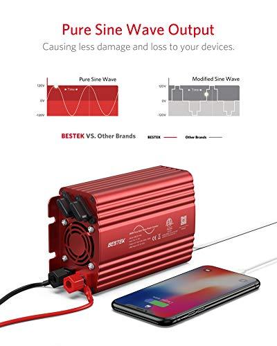 41uUpQkk4BL Wechselrichter 500W Reiner Sinus/Spannungswandler 12v 230v mit 4.2A Dual Smart USB-Anschlüsse Adapter Netzteil Kfz…