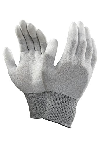 SCHOFIC Carbon Fiber ESD Anti-Static Gloves PU Fingertip Coated Top fit Non-Slip Wearable Gloves Safety Working Hand Gloves
