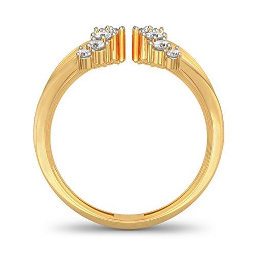 Or jaune 18K, 0,32CT TW Diamant Blanc (IJ | SI) en diamant