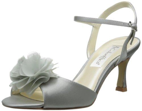Coloriffics Low Heel Heels - Coloriffics Women's Bristol Dress Sandal,Silver,6 M US