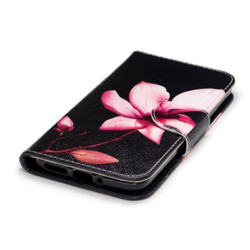 Trumpshop Smartphone Carcasa Funda Protección para Motorola Moto G6 + Mariposas Blancas + PU Cuero Caja Protector Billetera con Cierre magnético Choque Absorción Lirio
