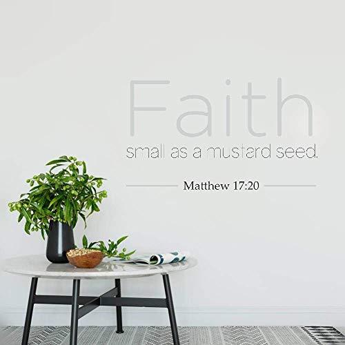 Wall Art Decor Decals Removable Mural Faith Small As A Mustard Seed Bible Verse (Faith As Small As A Mustard Seed Verse)
