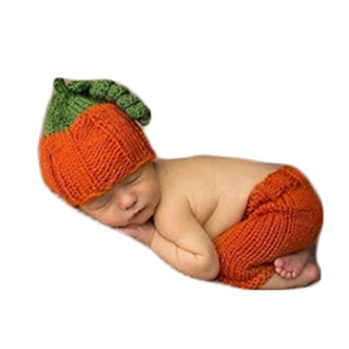 Christmas Picture Outfits (Christmas Newborn Baby Photo Prop Boy Girl Photo Shoot Outfits Crochet Knit Costume Halloween Clothes Pumpkin Hat Pants)
