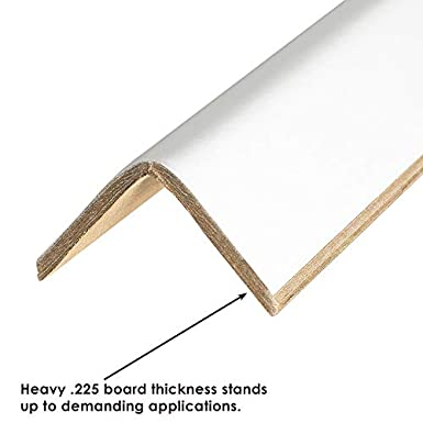 Partners Brand PEP3372120BX Edge Protectors Cased 0.12 3 x 3 x 72 White Pack of 25