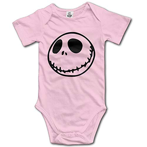 Christmas Faces Smiley - Unisex Nightmare Before Christmas Smiley Face Emoji Baby Onesie Infant Pink