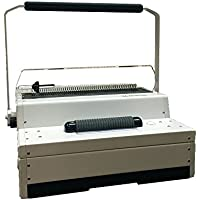 TruBind Heavy-Duty Manual Coil-Binding Machine - Electric Coil Inserter - TB-S600M - Hole Punch up to 25 Sheets - Affordable Home or Office Binding - Foot Pedal and Coil-Crimping Pliers Included