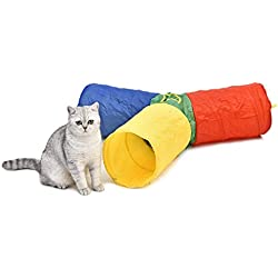 PAWZ Road Pet Toy Cat Tunnel Dog Tube Colorful Design Rainbow Style 3 Short Legs
