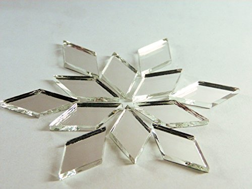 1 x 1/2 diamond shape mirror mosaic tile. 150 pcs