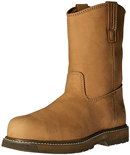 Boot Work Classic - Muck Wellie Classic Composite Toe Men's Leather Work Boots, Medium Width