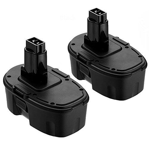 Topbatt 2Packs 18V 3.0Ah NI-MH Replacement Battery for Dewalt Cordless Tools DC9096 DE9039 DE9095...