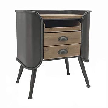 L Originale Deco Table De Chevet Bout De Canape Industriel