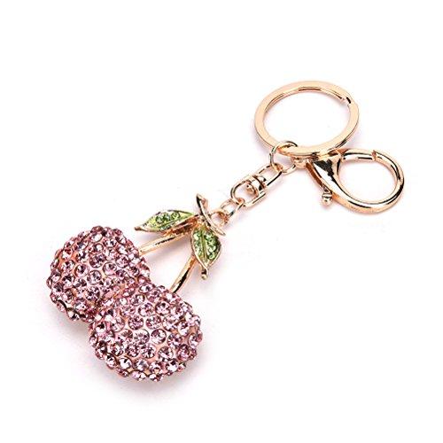 CosCosX 1 pc Crystal Handbag Keyring Rhinestone Charm Pendant Keychain Key Chain Bag Gift Car Pendant