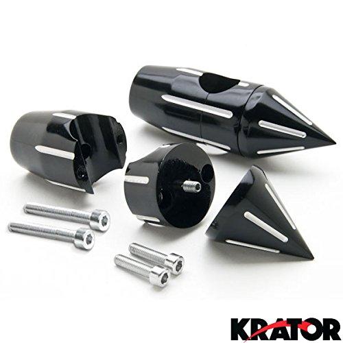 "Krator Custom Black Motorcycle 1"" Handlebar 2.25"" Risers For Suzuki Boulevard M109R M50 M90 M95"