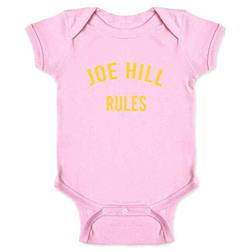 Joe Hill Rules Horror Books Funny Pink 18M Infant Bodysuit]()